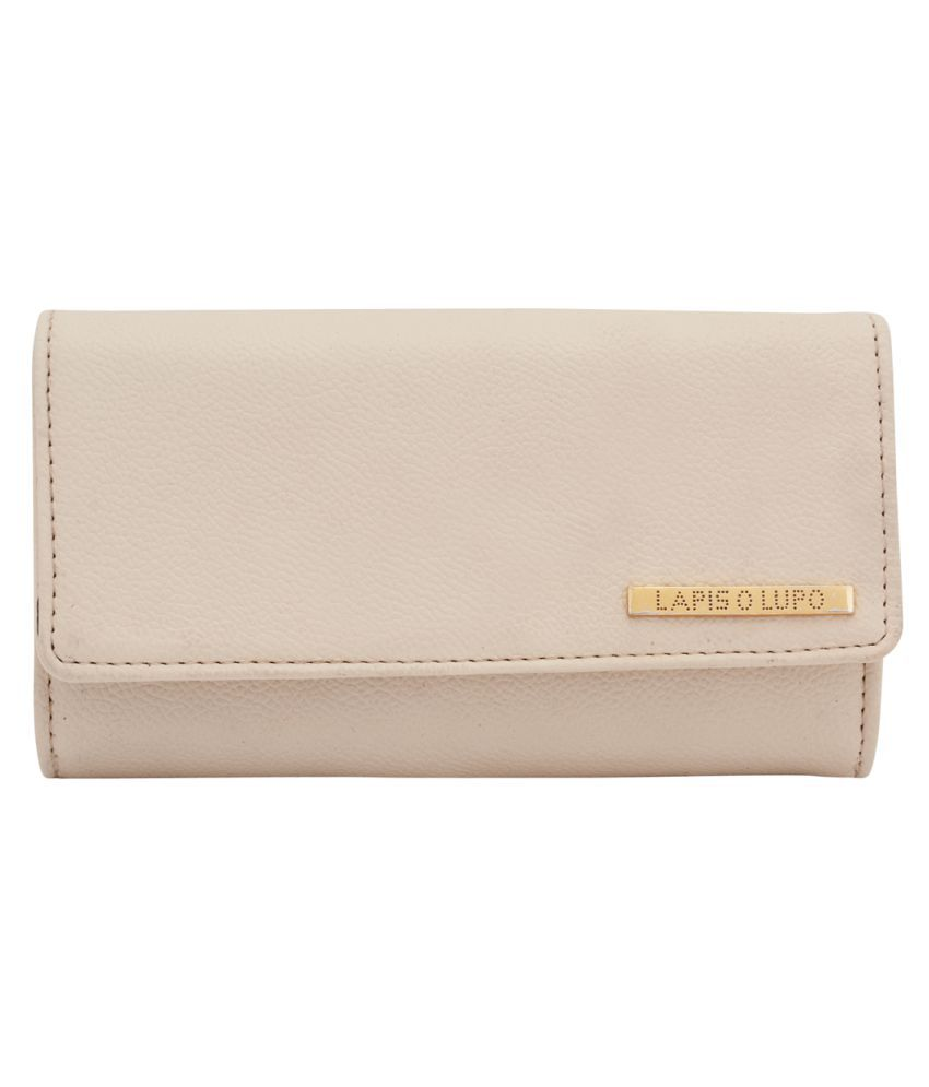 Lapis O Lupo White Faux Leather Handheld