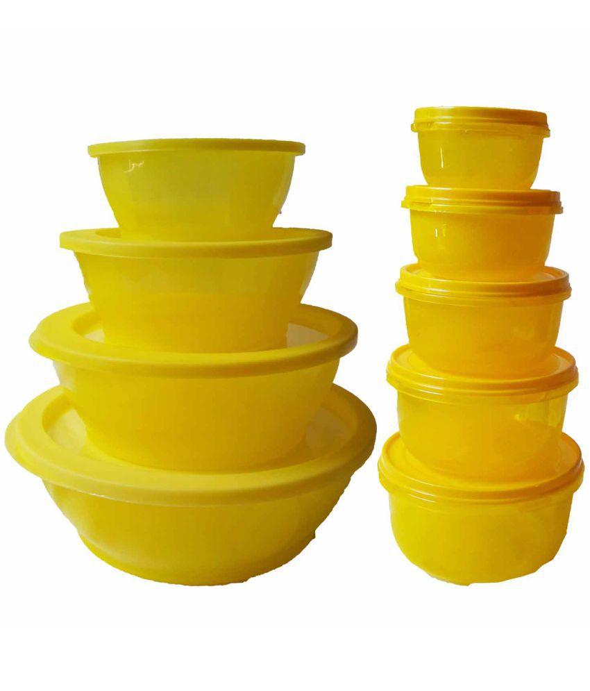 GreenViji Polyproplene Food Container Set of 9