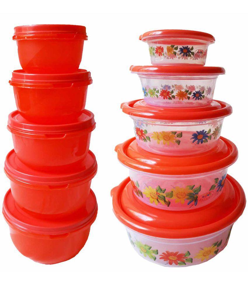 GreenViji Polyproplene Food Container Set of 10