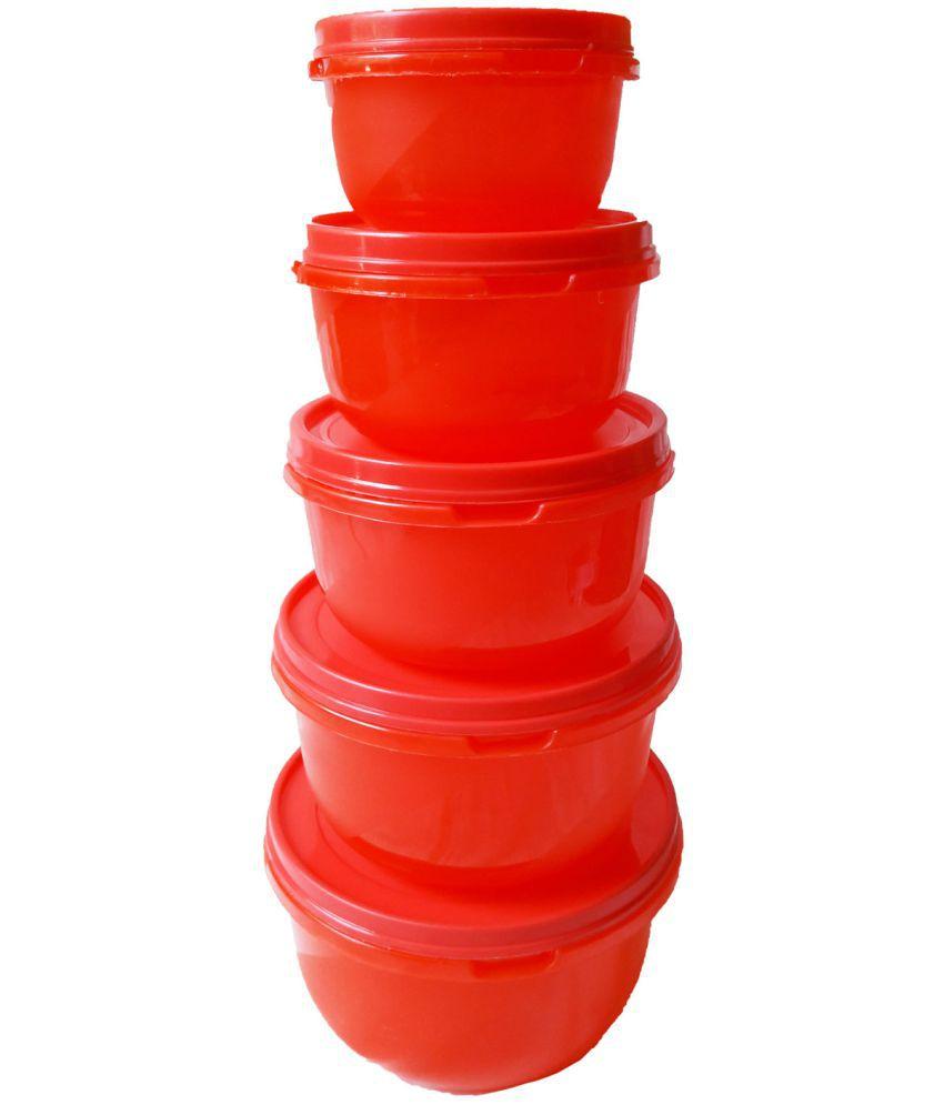 GreenViji Polyproplene Food Container Set of 5