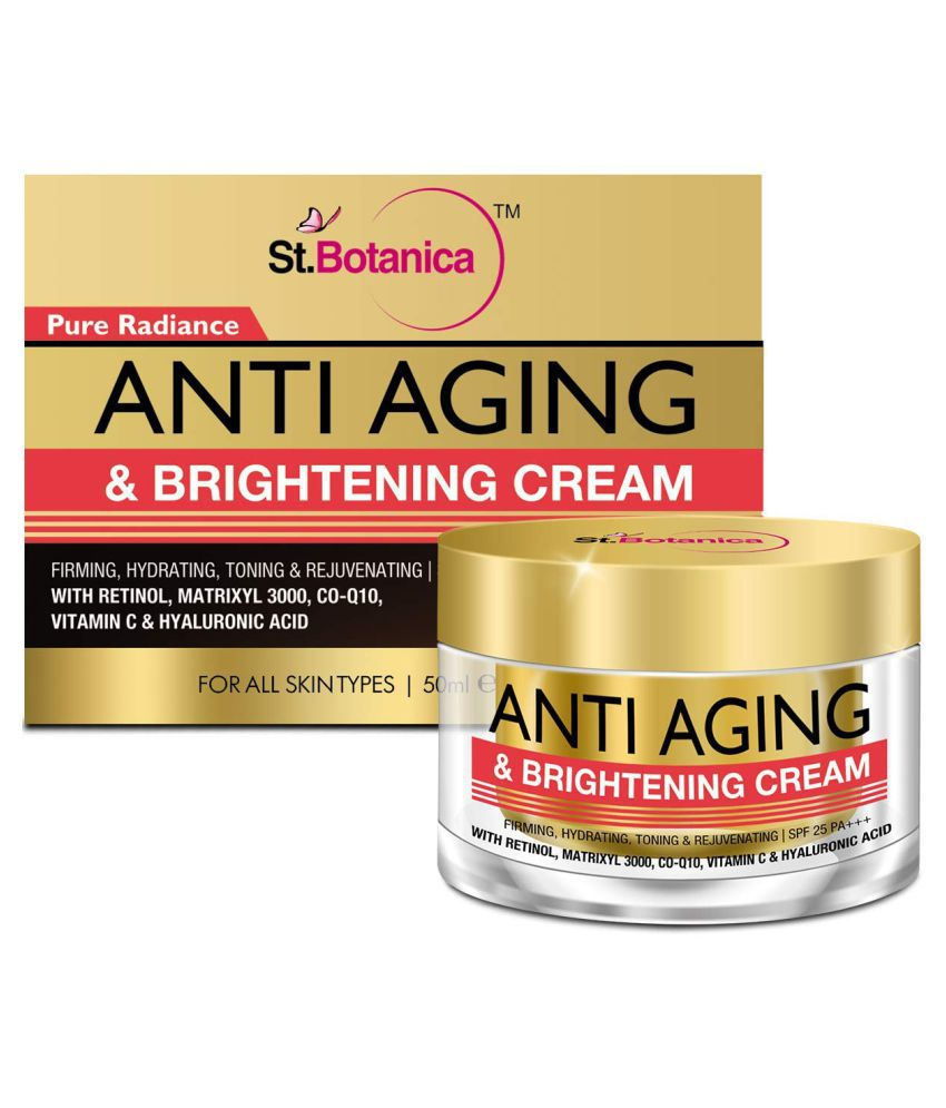 St.Botanica Pure Radiance Anti Aging & Face Brightening Cream, SPF 25 - Firming, Hydrating, Toning Moisturizer 50 gm