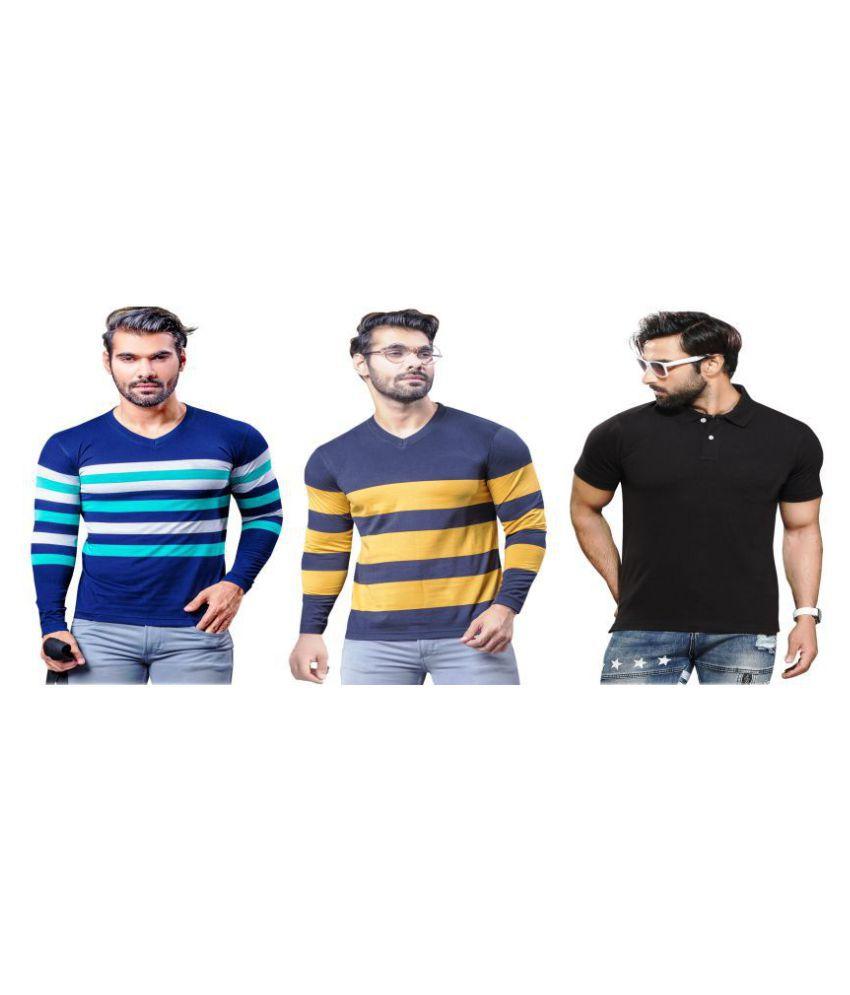 KUNDAN SULZ GWALIOR Black Full Sleeve T-Shirt Pack of 3