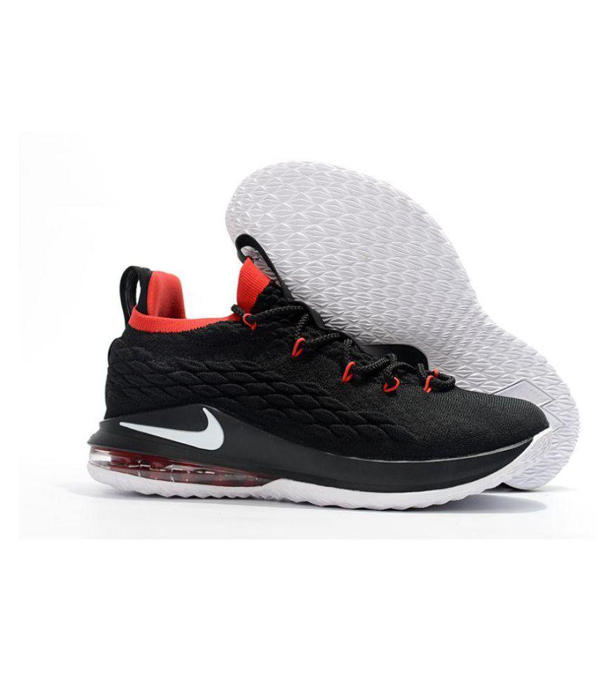 489dc4442289 Nike LeBron 15 Black Basketball Shoes - Buy Nike LeBron 15 Black ...
