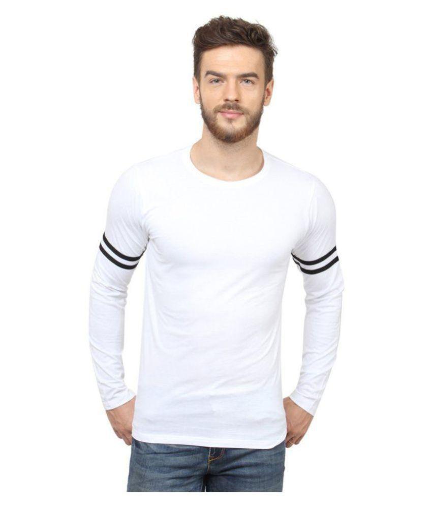 SCATCHITE White Full Sleeve T-Shirt