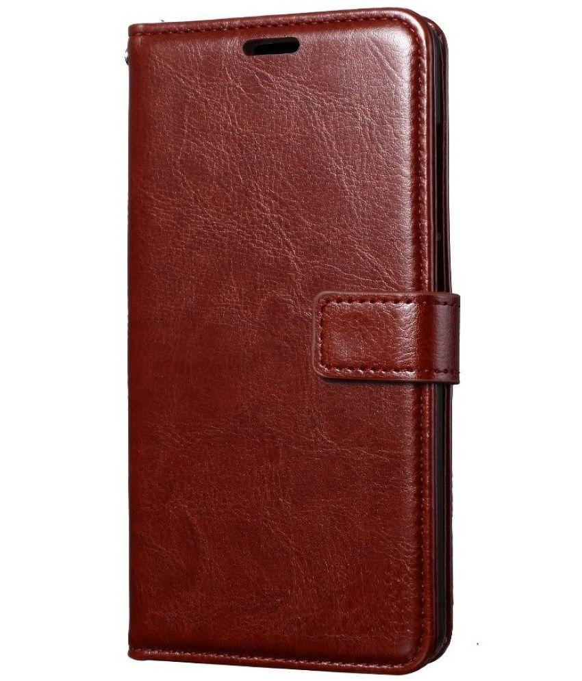 Xiaomi Redmi Note 4 Flip Cover by ClickAway   Brown