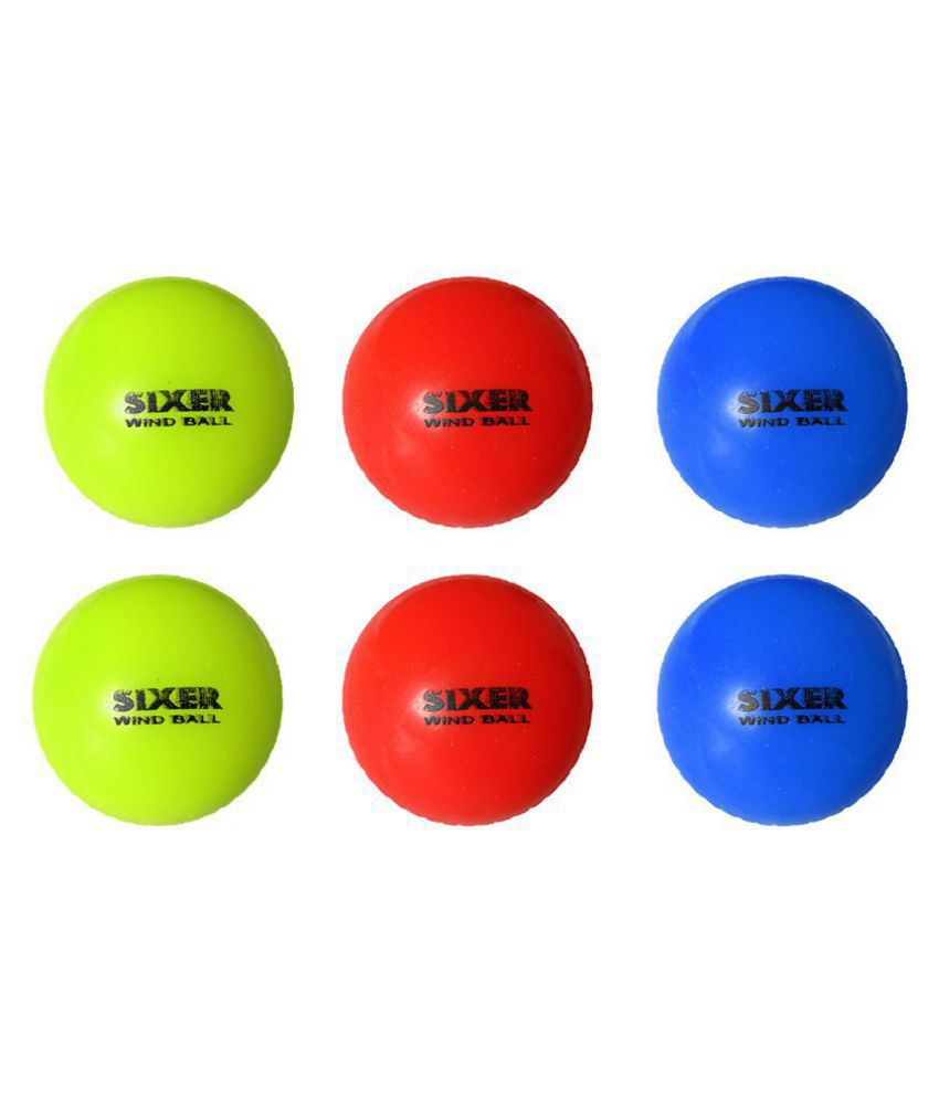 Sixer Pack Of 6 Cricket Wind Ball