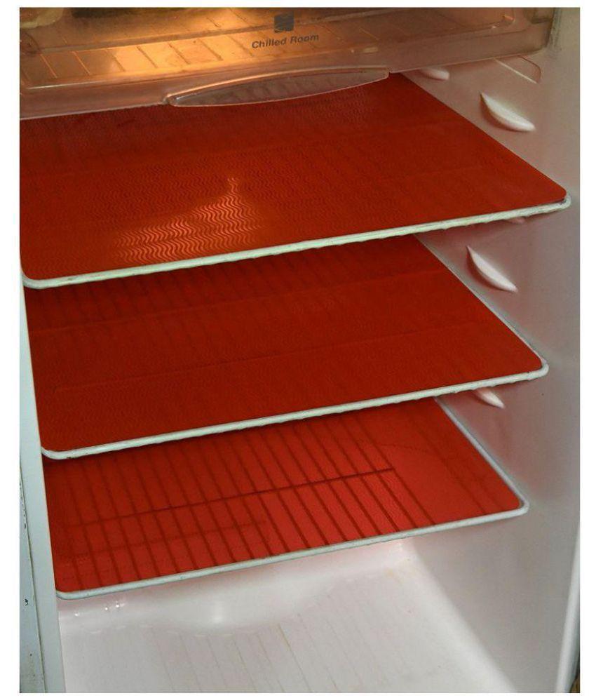 Delfe Set of 6 PVC Red Fridge Fridge Mats