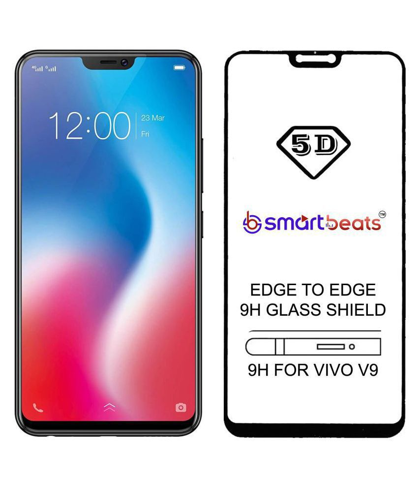 Vivo V9 Tempered Glass Screen Guard By Smartbeats 5d Edge To Edge 9h