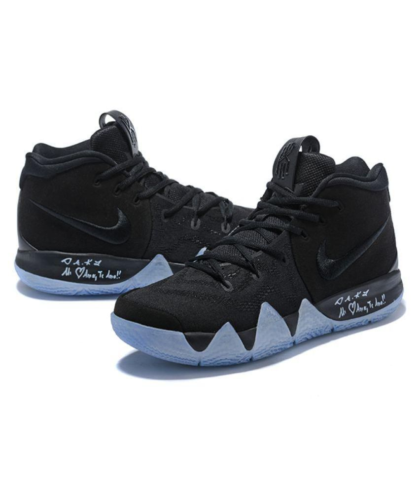 wholesale dealer 76ee7 1f1d3 Nike Kyrie 4 Black Whie Running Shoes Black