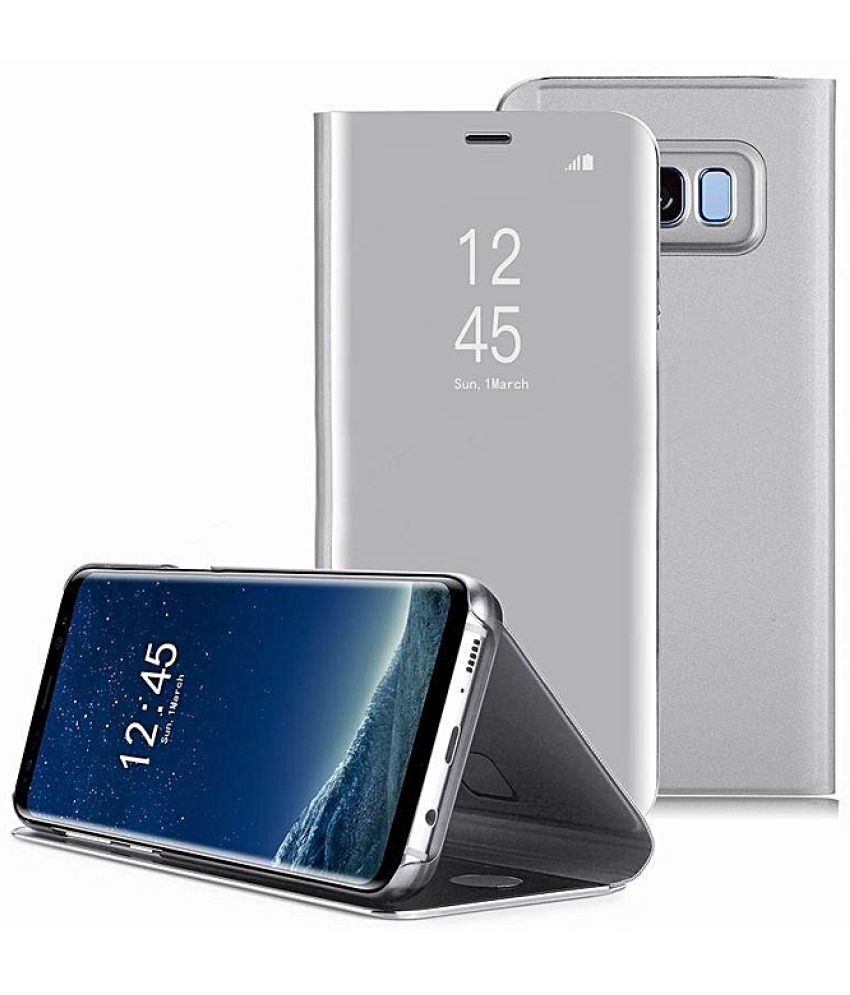 check out af45e 763dd Samsung Galaxy A6 Flip Cover by JKR - Silver