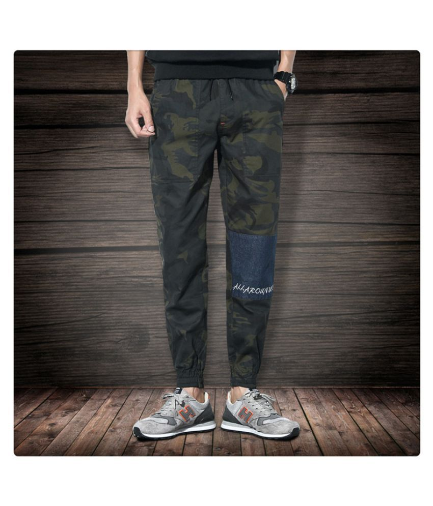Super Me Multicolored Regular -Fit Flat Trousers