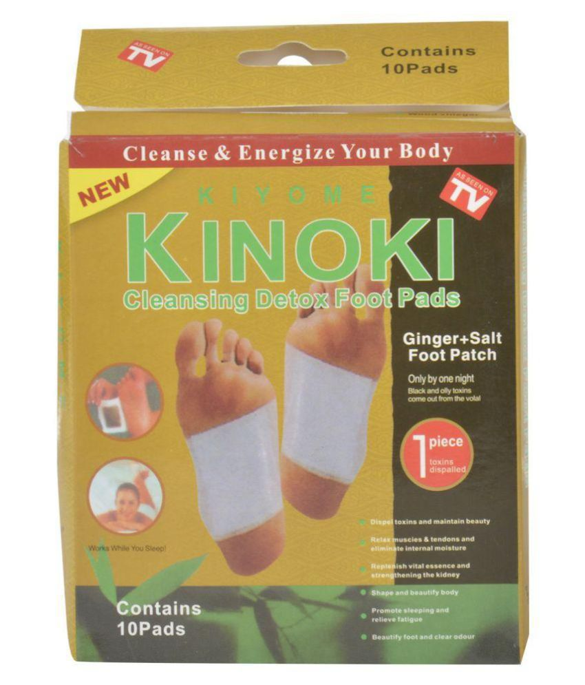 WAY BEYOND Kinoki Detox Foot Pads Toxins removal Cleansing foot treatment Set of 10
