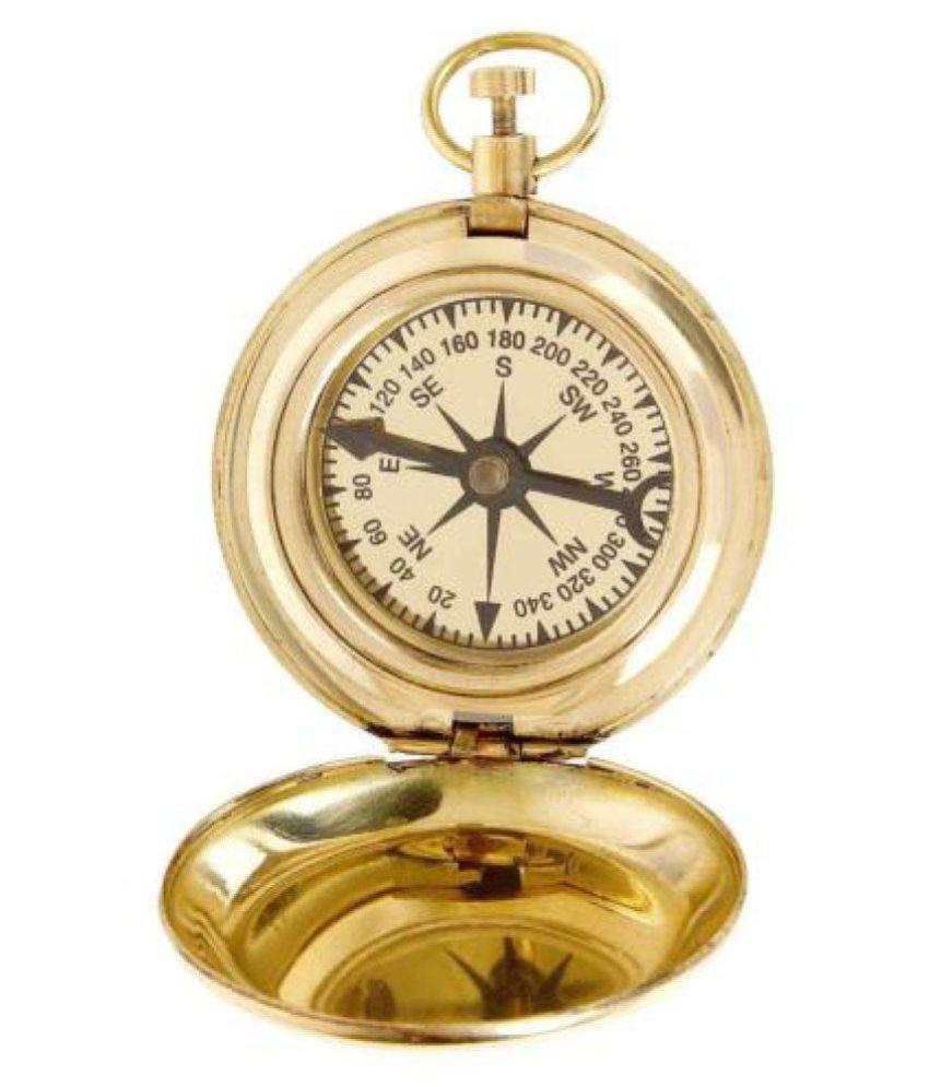 brass compass pocket brass compass size 2 inch push button brass compass