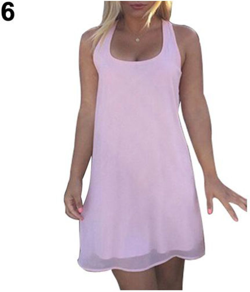 Generic Chiffon Pink Asymmetric dress
