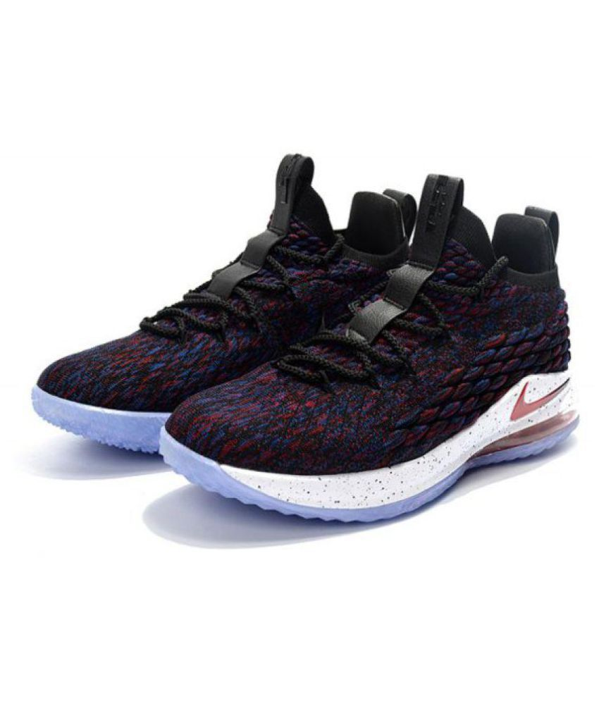d2266d72 Nike LeBron 15 Black Basketball Shoes - Buy Nike LeBron 15 Black Basketball  Shoes Online at Best Prices in India on Snapdeal