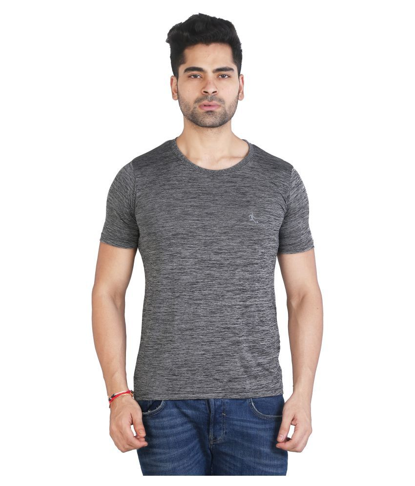 Awack Grey Polyester T-Shirt Single Pack