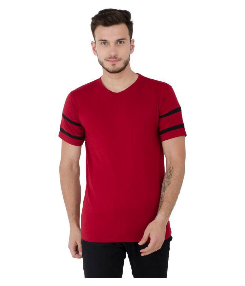 Lime Red Half Sleeve T-Shirt