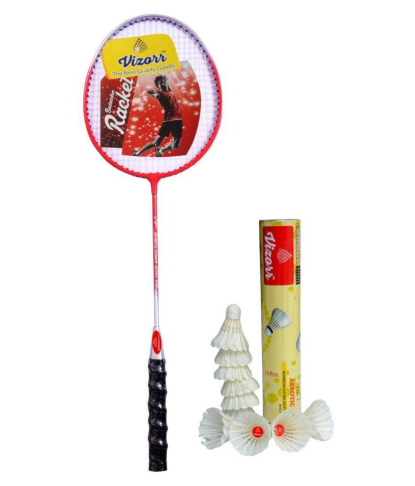 Vizorr KK-1015 Badminton Racquet Combo with Aerotic-005 Feather shuttlecock (10pcs.)