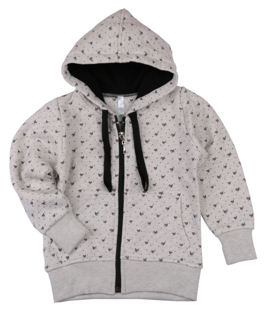 Floral Print Hooded Sweatshirt for Girls