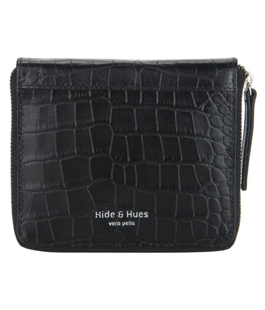Hide & Hues Black Wallet