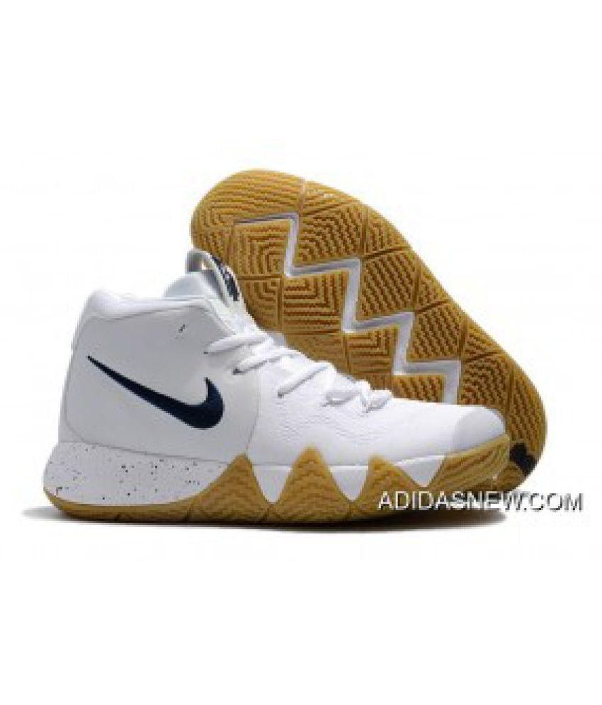 Nike KYRIE 4 New Release Gum-Deep White Basketball Shoes - Buy Nike ... 6d3a1990d