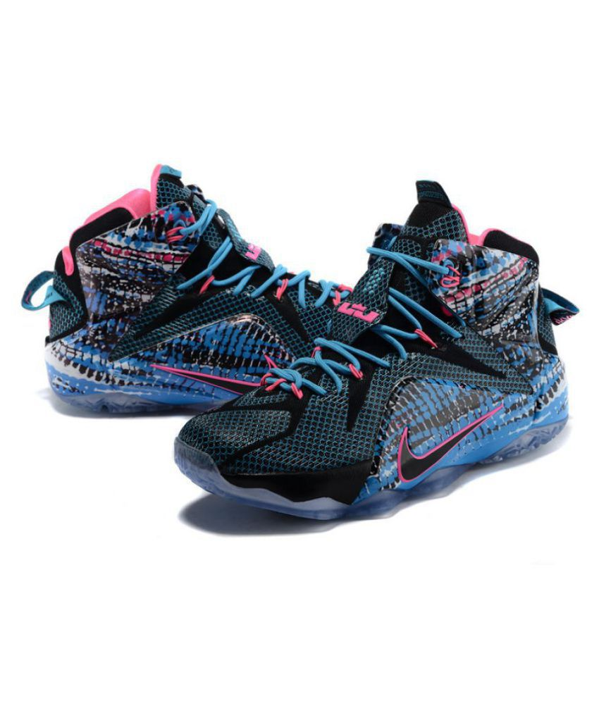 cheap for discount 12dae 3484e Nike nike lebron james12 blue Blue Basketball Shoes