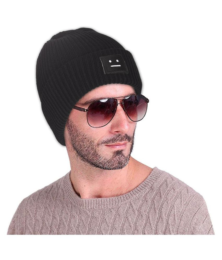 226231dfde6 Men s Woolen Smiley Plain Skull Beanie knit Cap Green Freesize  Buy Online  at Low Price in India - Snapdeal