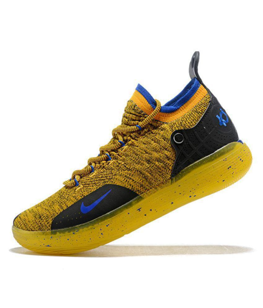 "35369a2d3 Nike Zoom KD 11 ""Warriors"" LTD 2018 Yellow Basketball Shoes - Buy ..."