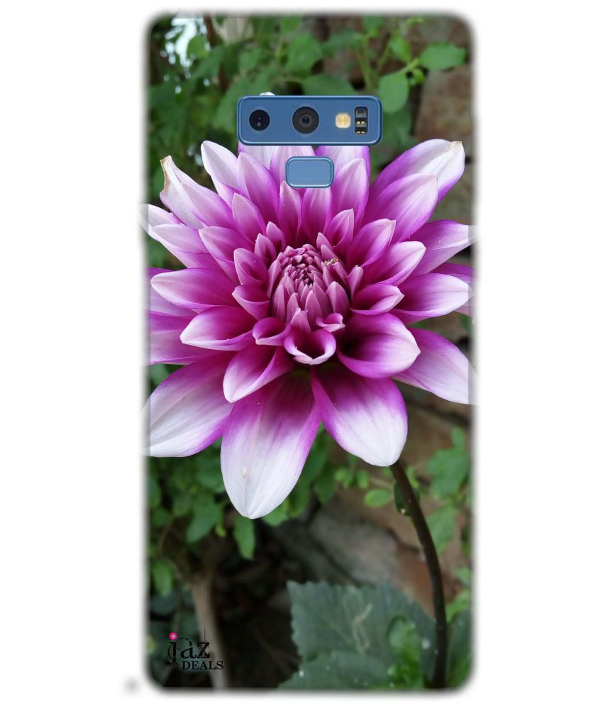 Samsung Note 9 Printed Cover By Jaz Deals Purple Flower Print Hard Cover