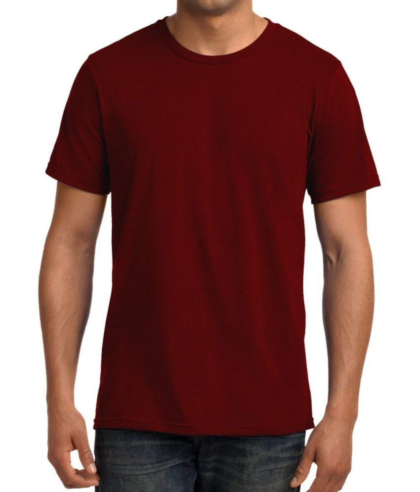 ALIZON Red Half Sleeve T-Shirt Pack of 1