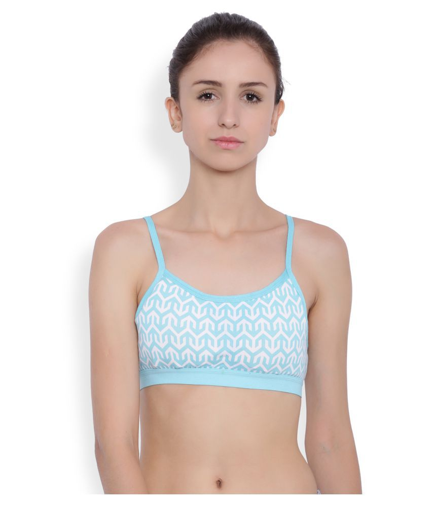 bf85ff0cf Buy BRAG Cotton Bralette - Blue Online at Best Prices in India - Snapdeal