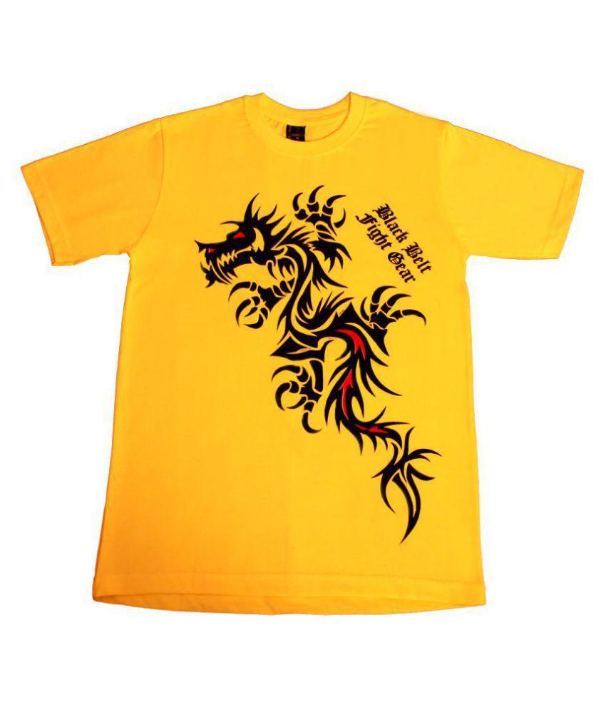 DEM  Trends Yellow Half Sleeve T-Shirt