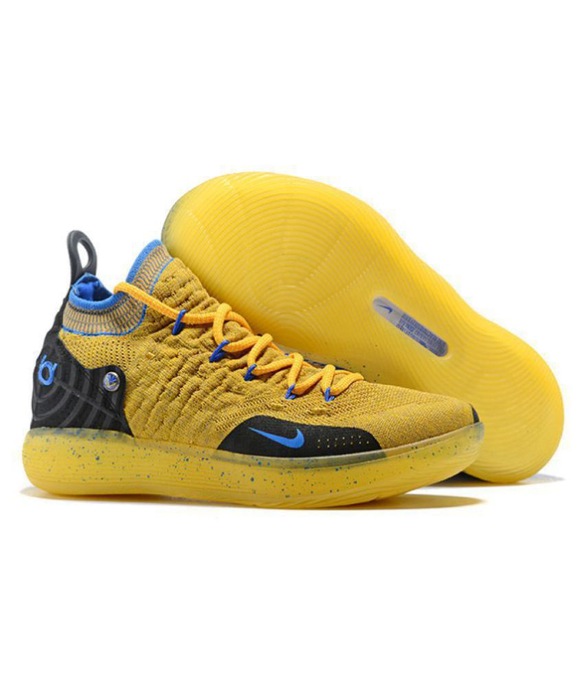 """detailed look 81ce9 0dcdb Nike Zoom KD 11 """"Warriors"""" LTD 2018 Yellow Basketball Shoes - Buy Nike Zoom  KD 11 """"Warriors"""" LTD 2018 Yellow Basketball Shoes Online at Best Prices in  India ..."""