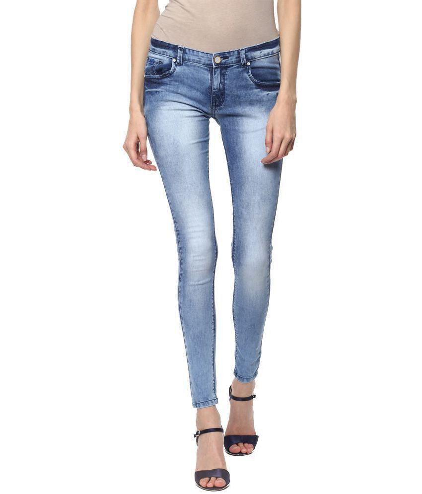 Urban Navy Denim Lycra Jeans - Blue