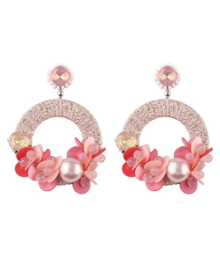 Levaso Fashion Jewelry Womens Earrings Ear Studs Leather 1Pair Personality Gifts Pink