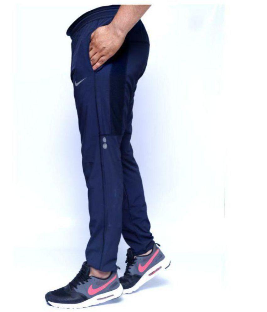 Nike Blue Sports Dryfit Polyester Lycra