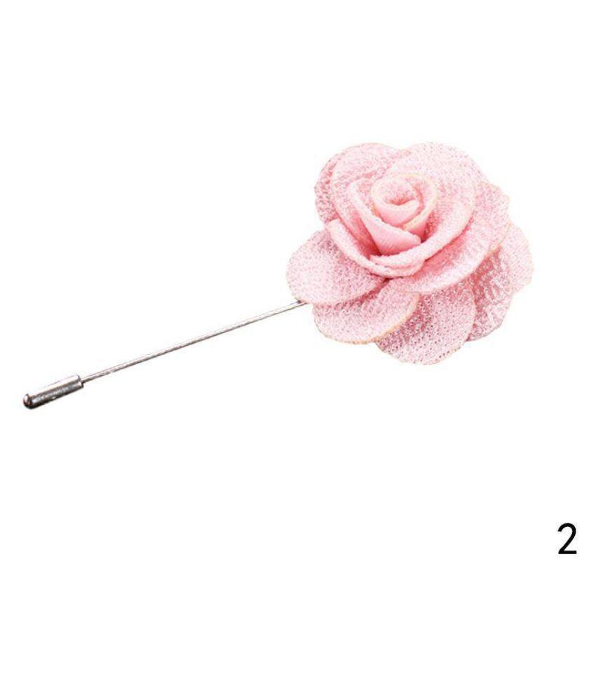 Lapel Flower Daisy Handmade Boutonniere Stick Brooch Pin Wedding Men Accessories