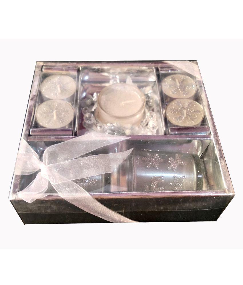 TECHNOCHITRA Silver Wax Tea Light - Pack of 5