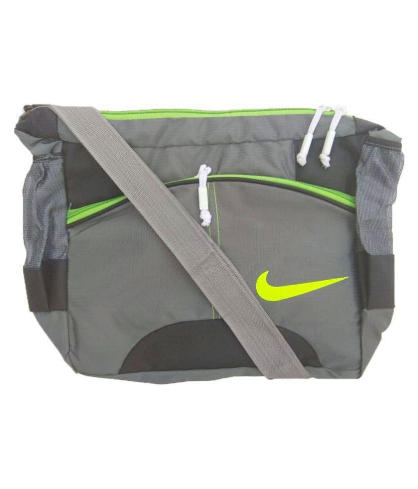Nike Latest Trendy School  College  Tution  Office Use Grey Nylon Casual  Messenger Bag Side Bag - Buy Nike Latest Trendy School  College  Tution   Office Use ... 22818c97d39a2