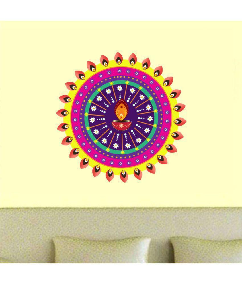 wall dreams Rangoli Festive Sticker ( 60 x 60 cms ) - Buy wall ...