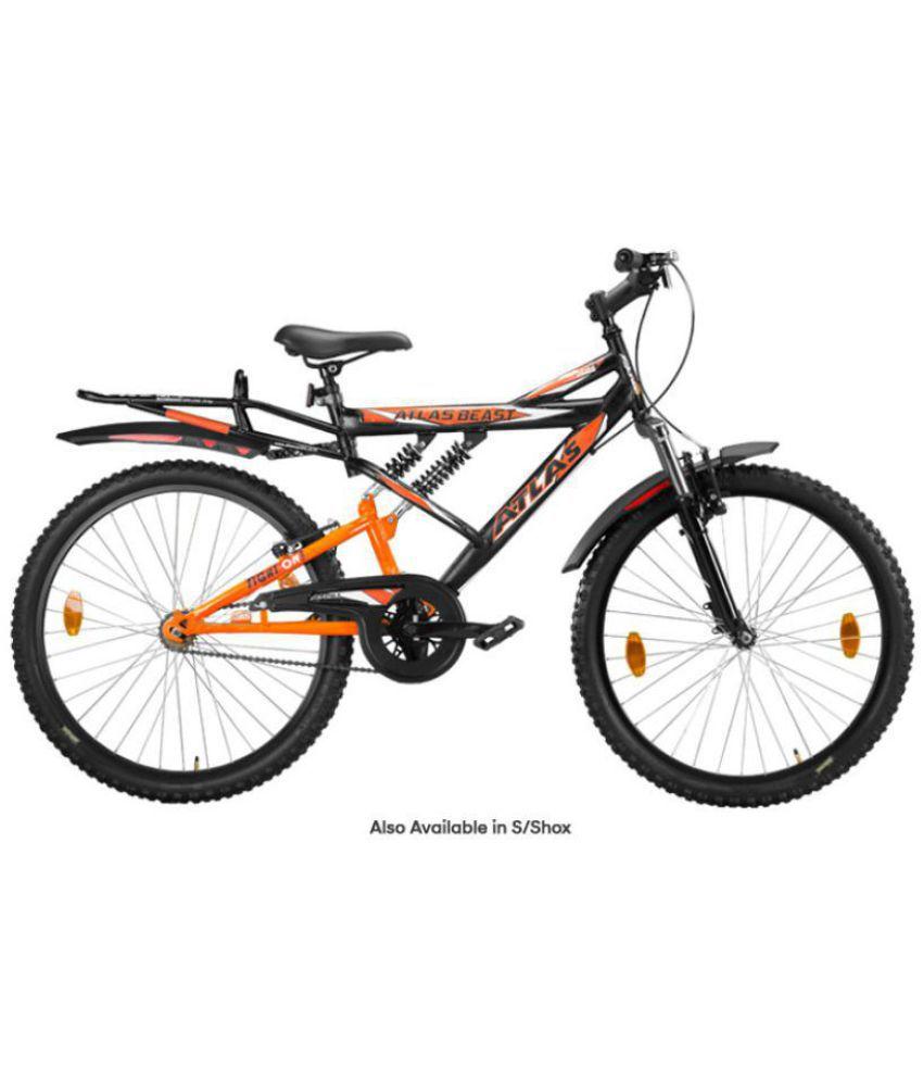88f2acb8854 Atlas shox 26 Black 66.04 cm(26) Mountain bike Bicycle Adult Bicycle/Man/Men/Women:  Buy Online at Best Price on Snapdeal