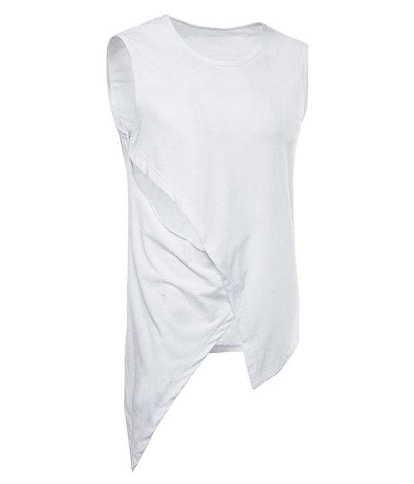 Generic White Sleeveless T-Shirt