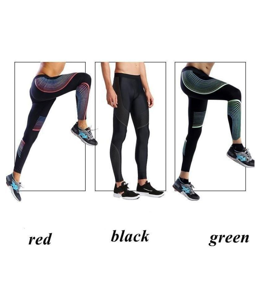 Men's Sport Compression Leggings Printing Running Tights Joggers Pants