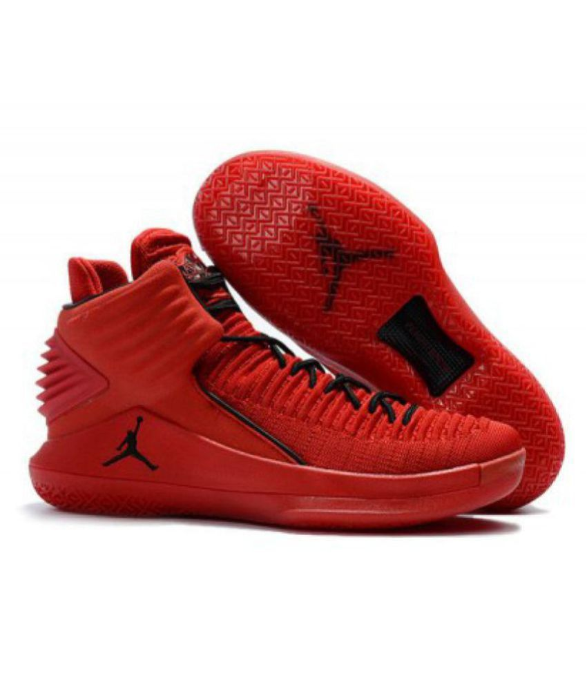 bf2c9d6487fec Nike Air Jordan 32 Red Basketball Shoes - Buy Nike Air Jordan 32 Red Basketball  Shoes Online at Best Prices in India on Snapdeal