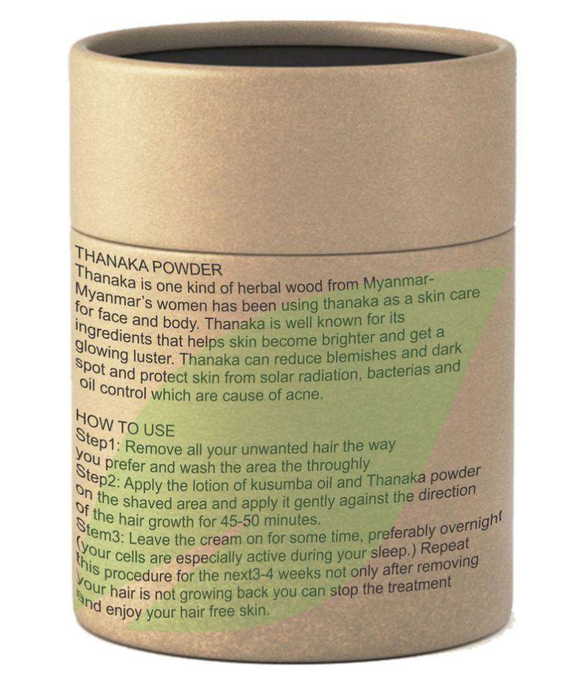 metherb Facial Kit Thanaka powder for Permanent hair removal 100 gm