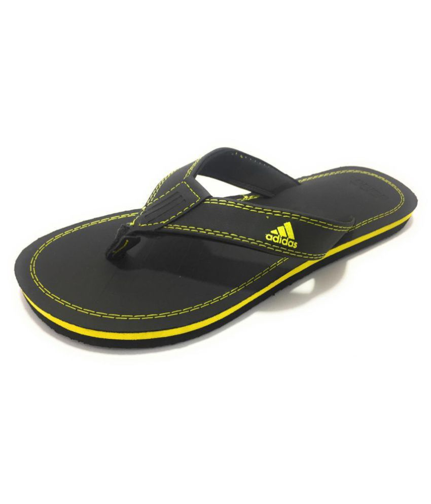 6214579c5b6224 Adidas Black Daily Slippers Price in India- Buy Adidas Black Daily Slippers  Online at Snapdeal