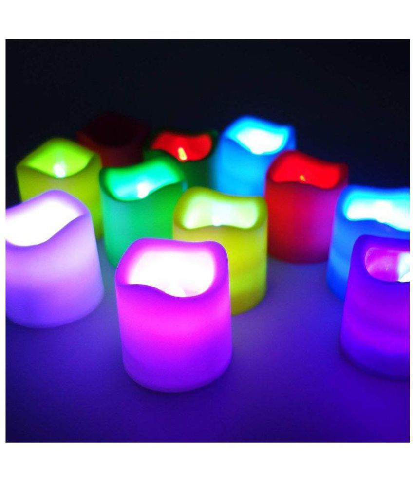 kaas colour changing flickering flameless led candle tea light for rh snapdeal com