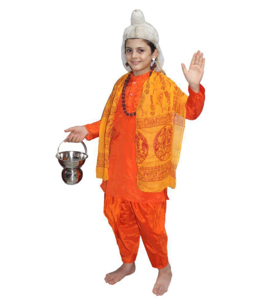 Kaku Fancy Dresses Orange Sadhu Costume - Buy Kaku Fancy