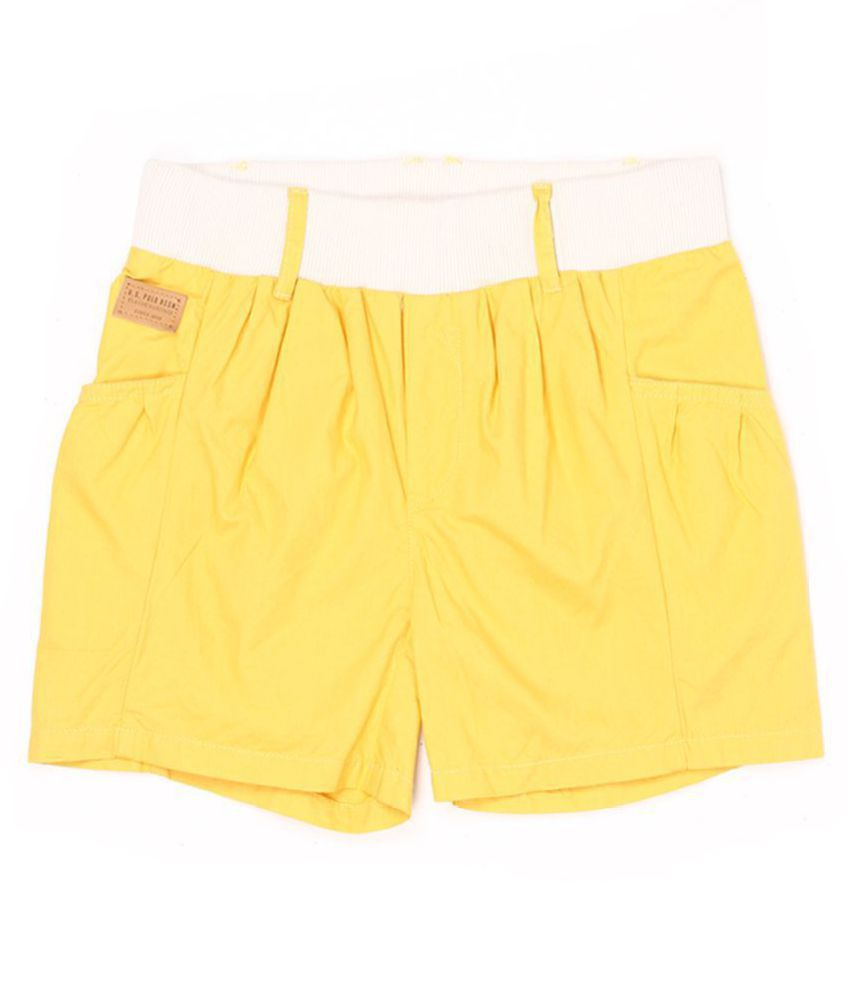 US Polo Girls Yellow Casual Short