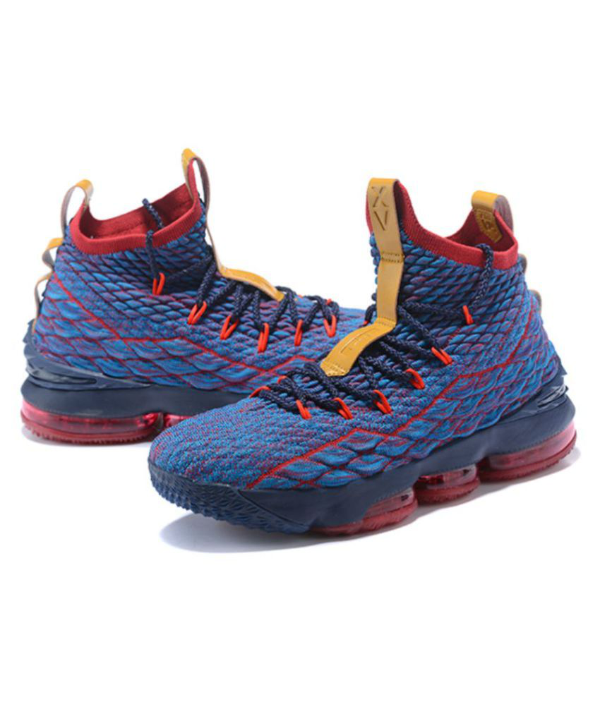 promo code 92bc4 800b9 Nike LeBron 15 Blue Basketball Shoes
